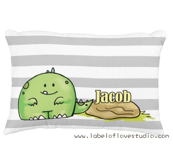 Cute Dino Personalized Pillow