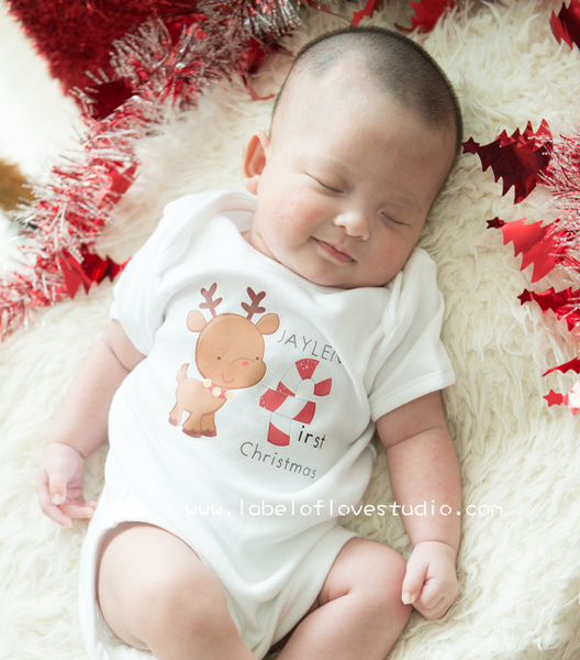 Happy Reindeer Romper/ Tee