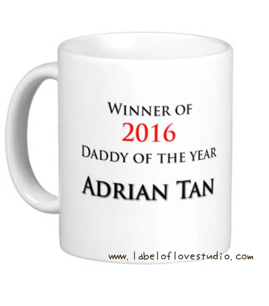 Dad of the Year Personalized Cup