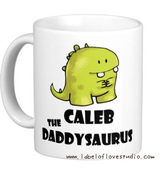 Daddysaurus Personalized Cup