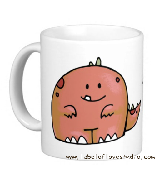 Cute Dino Personalized Cup