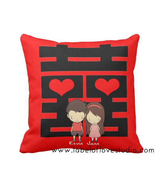 Double Happiness Cushion