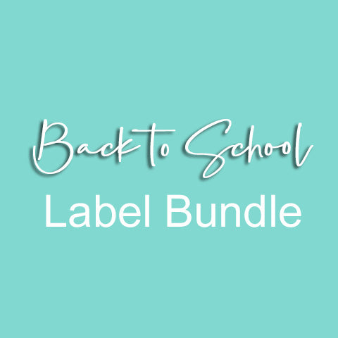 Back to School Label Bundle