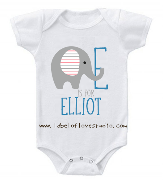 E is for ... Alphabet Romper/ Tee