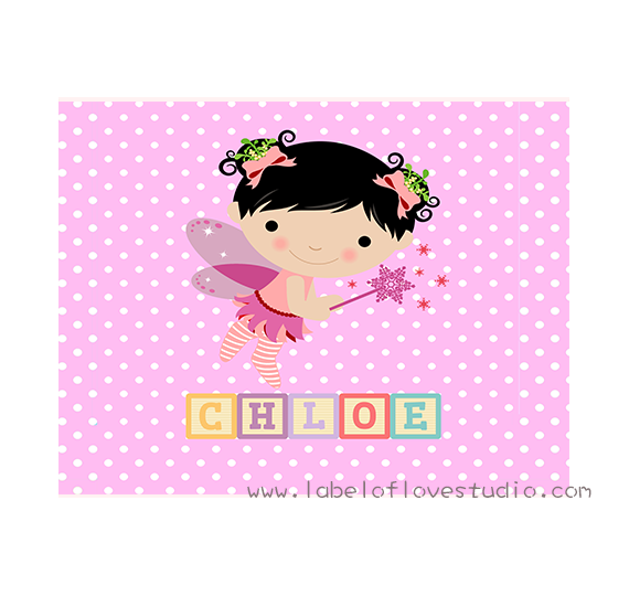 Pretty Fairy Personalized Security Blanket