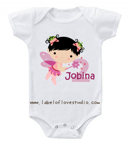 Fairy Princess Birthday Romper/ Tee