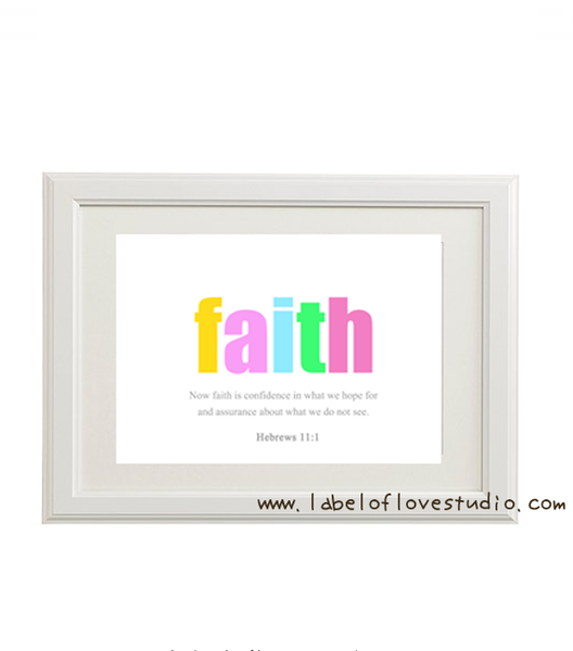 Faith Art Print - Hebrews 11