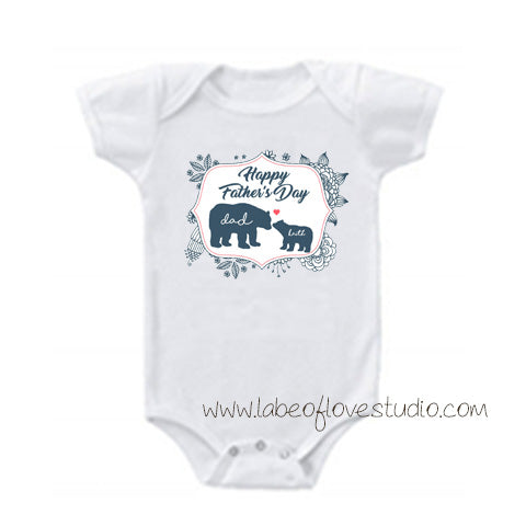 Father Bear Romper/ Tee