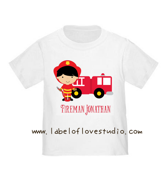 Fire Fighter Romper/ Tee