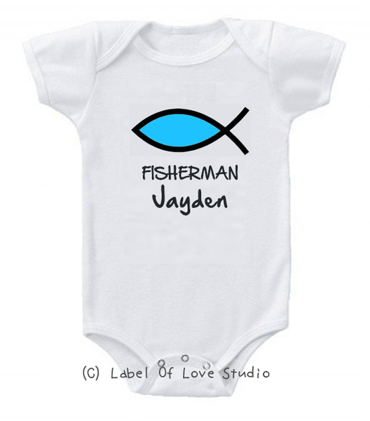 Fishers of Men Romper/ Tee in Blue