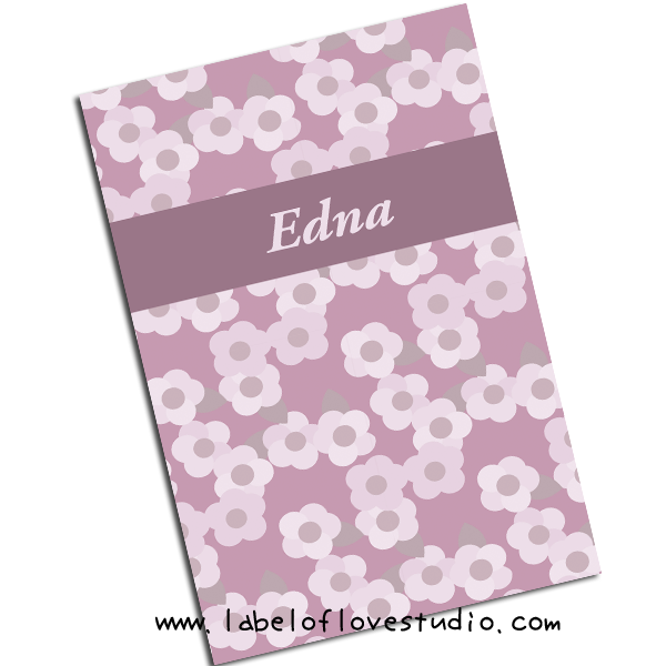 Flora in Purple Notebook