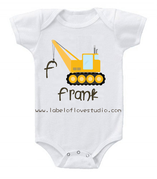 Little Builders Series: Forklift Romper/ Tee