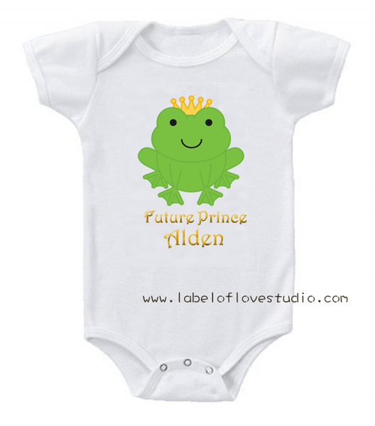 Future Frog Prince Romper/ Tee