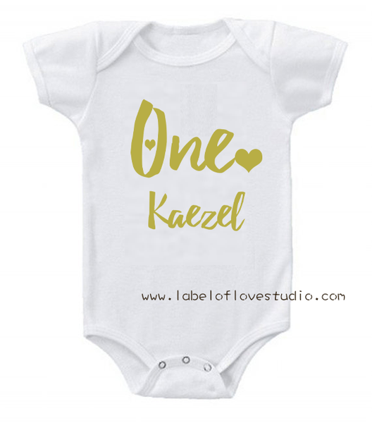 Glittery One Birthday Romper/ Tee