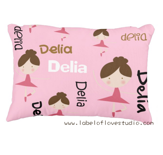 Dancing Ballerinas Personalized Pillow