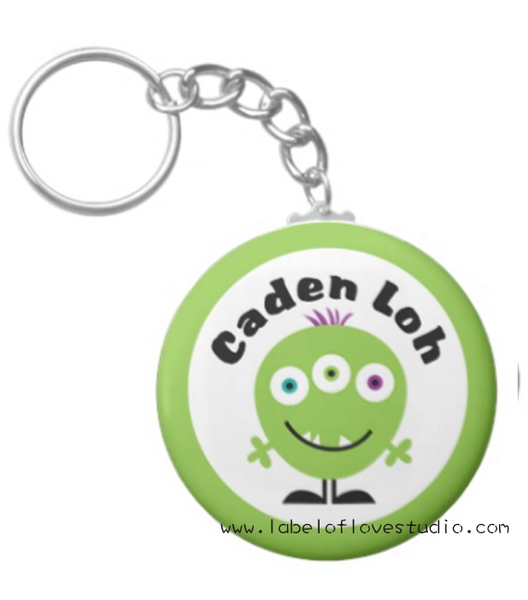 Green Monster Bag Tag