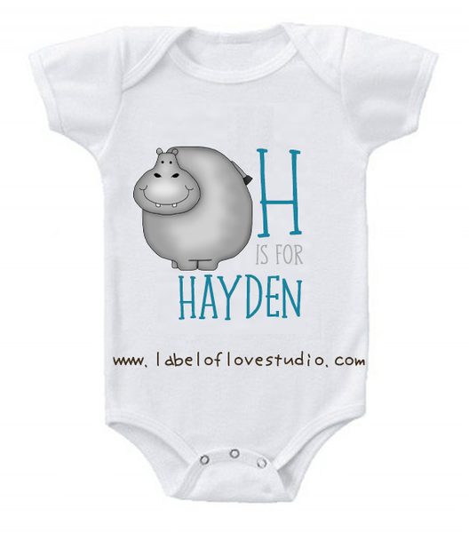 H is for ... Alphabet Romper/ Tee