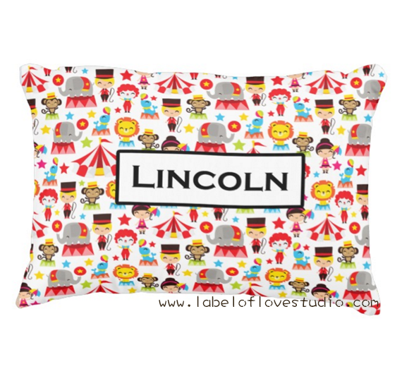 Happy Circus Personalized Pillow