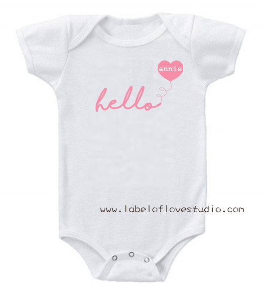 Hello Balloon Romper/ Tee