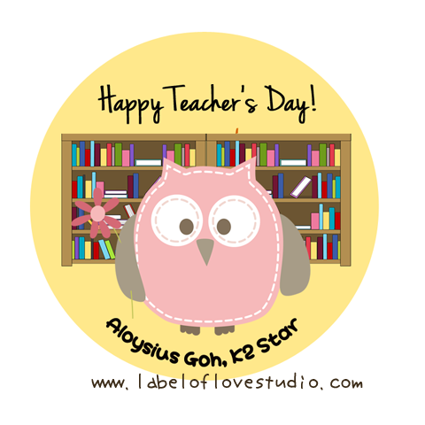 Hooty Teacher's Day Labels