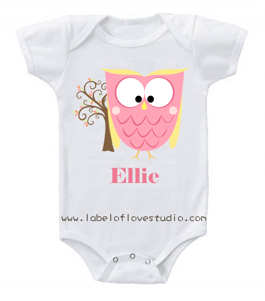 Hooty the Owl in Pink Romper/ Tee
