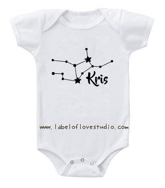 Glittery Constellation Romper/ Tee