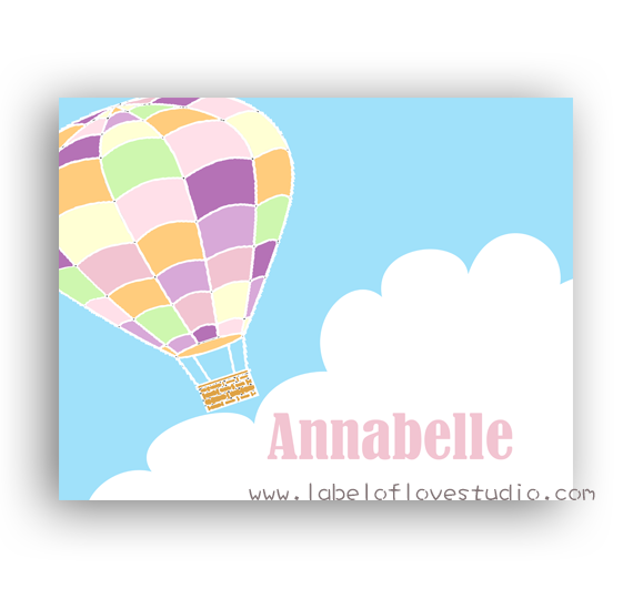 Hotair Balloon Ride Personalized Security Blanket