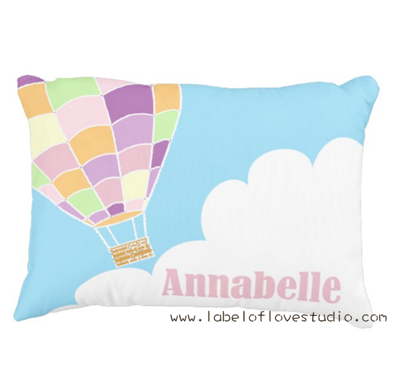 Hotair Balloon Ride Personalized Pillow