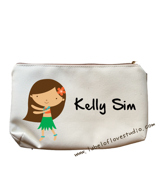 Hula Girl Pencil Case