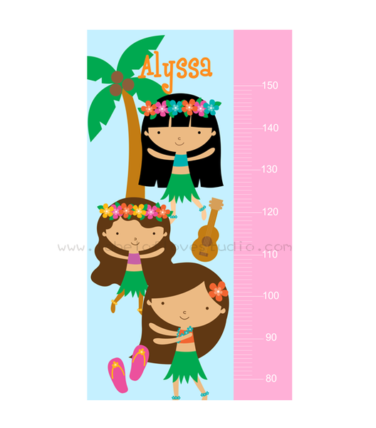 Happy Hula Girls Height Chart
