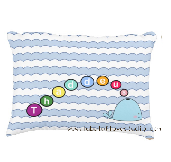 The Jolly Whale Personalized Pillow