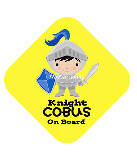 Knight Car Sign