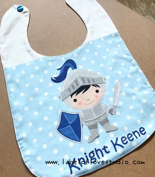 Handsome Knight Bib