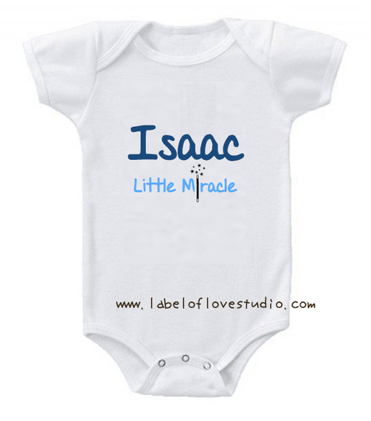 Little Miracle (Boy) Romper/ Tee