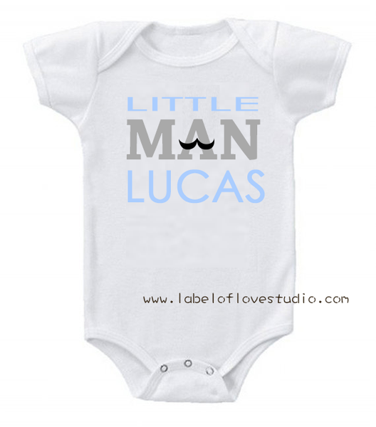 Little Man Romper/ Tee