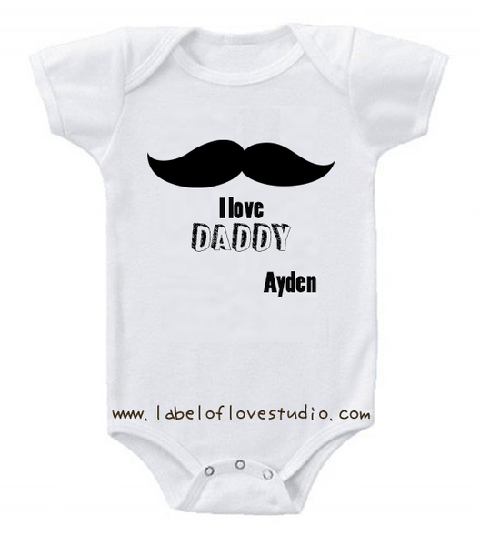 I love Daddy romper/ tee