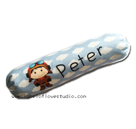 Little Pilot Personalized Bolster