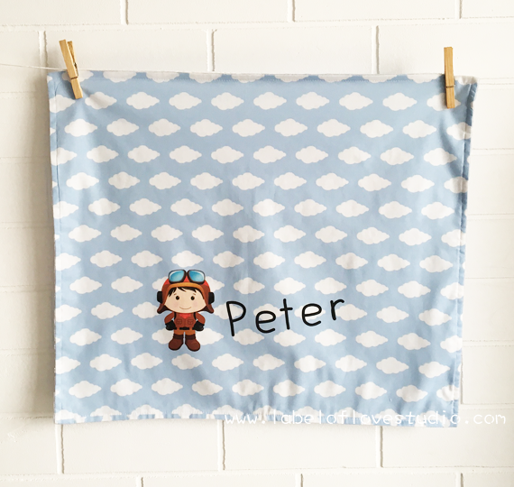 Little Pilot Personalized Security Blanket