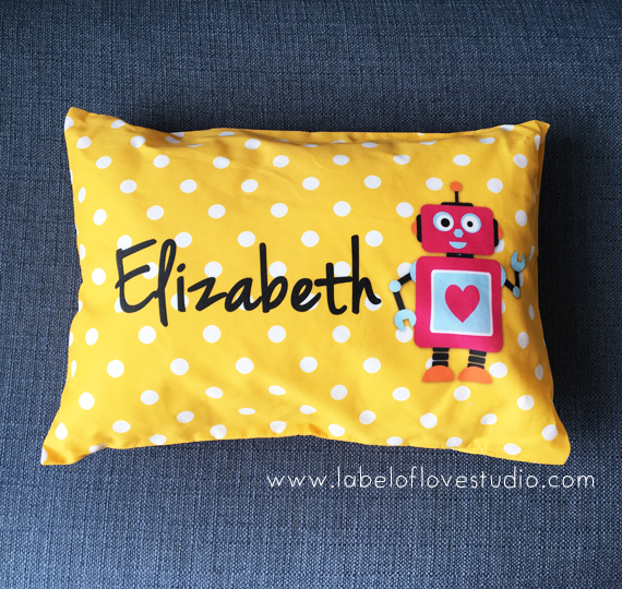 Little Robot Personalized Pillow
