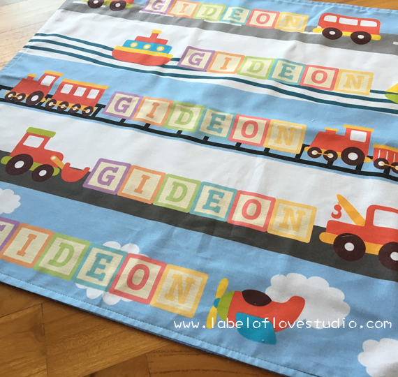Little Vehicles March Personalized Security Blanket