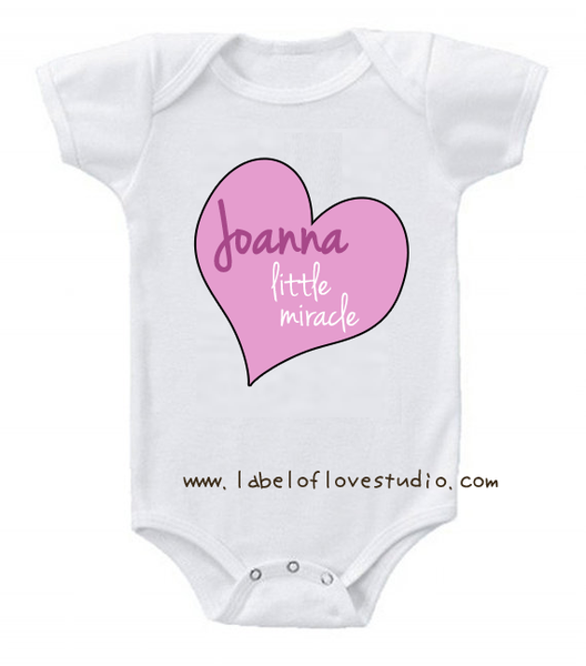 Little Miracle of the heart Romper/ Tee