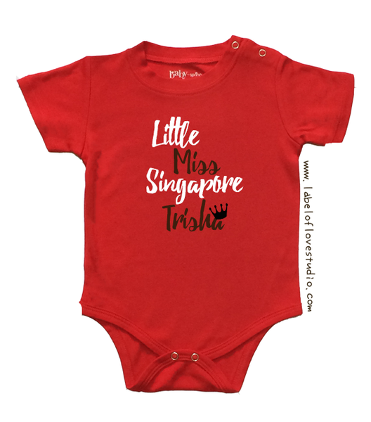 Little Miss Singapore Romper/ Tee
