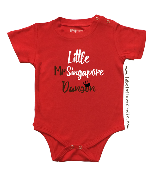 Little Mr Singapore Romper/ Tee