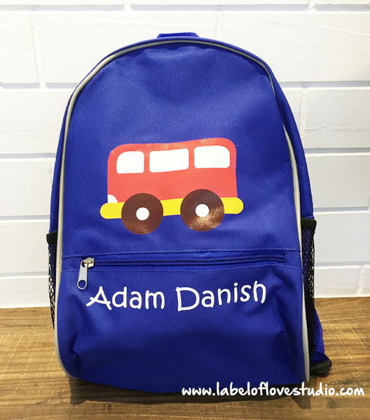 Little Vehicle Personalized Backpack