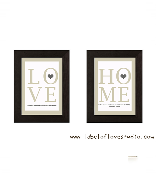 As for me and my household, we will serve the LORD Art Print