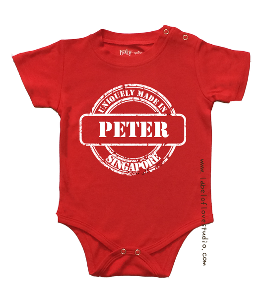 Made in Singapore Personalized romper/ tee