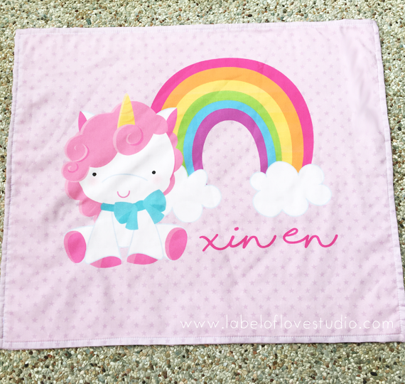 Magical Unicorn Personalized Security Blanket