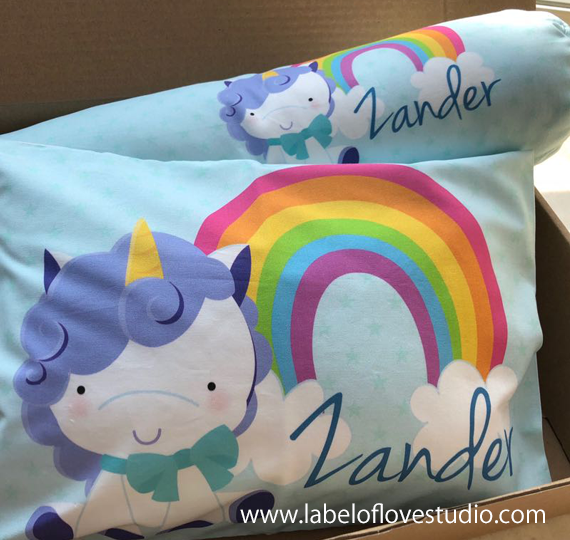Magical Unicorn in Blue Bedding Set