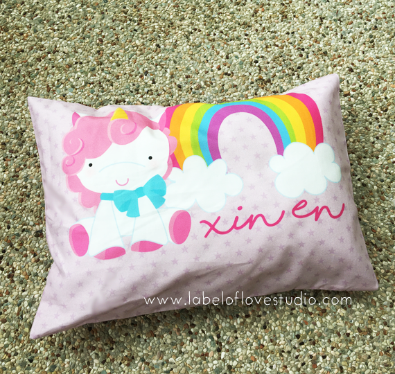 Magical Unicorn Personalized Pillow