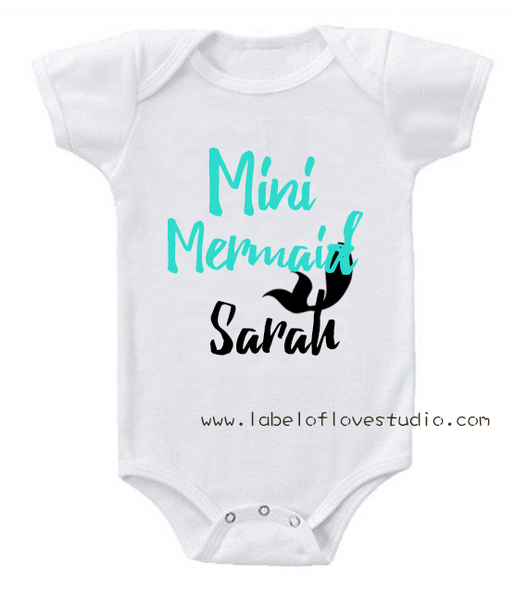 Mini Mermaid Romper/Tee